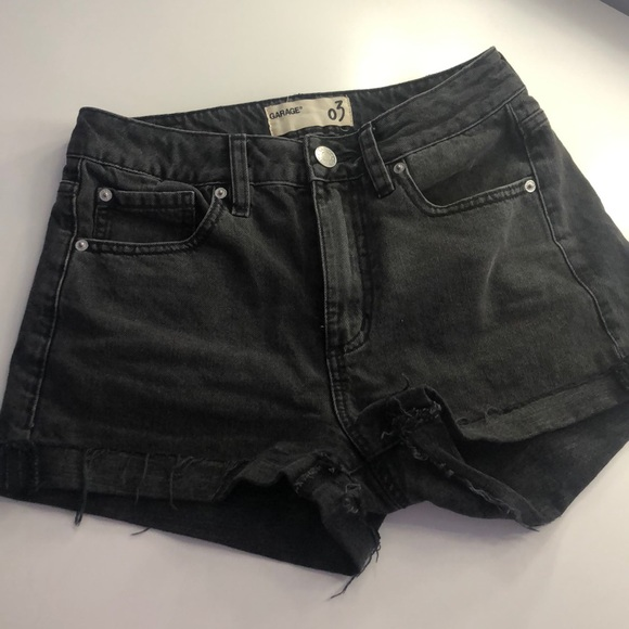 Mom fit washed black shorts!-